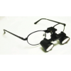 Feather Sight Loupes:  #FT1 Standard Frame - Flip-Up (2.5x Magnification)
