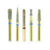 Crosstech 24k Gold Short-Shank Diamond Burs - All Shapes
